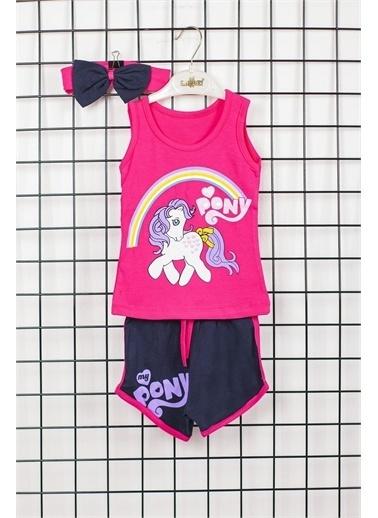 Max Bebek My Little Pony Kız Çocuk Bandanalı 2'li Alt Üst Takım Pembe